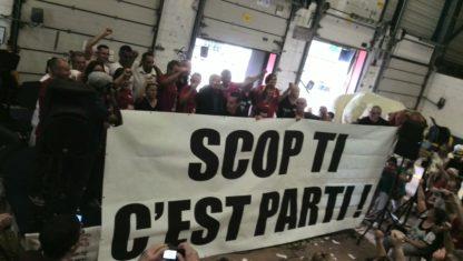 actie van medewerkers van SCOP-Ti