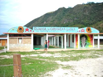 kliniek opgericht door de zapatistas onder andere met geld van verkoop koffie