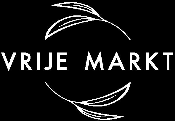 logo van de vrije markt wit