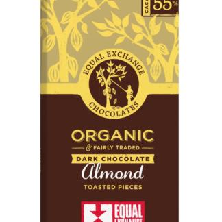 biologische fairtrade chocola met amandel