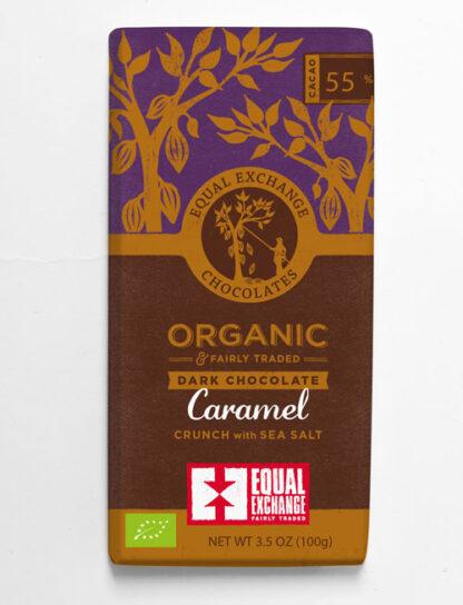 biologische fair trade chocolade met karamel en zeezout