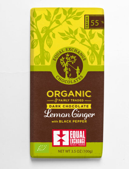 biologische fair trade chocolade met citroen gember en zwarte peper