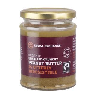 biologische fair trade ongezouten pindakaas