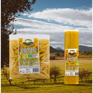 democratisch geproduceerde italiaanse biologische pasta
