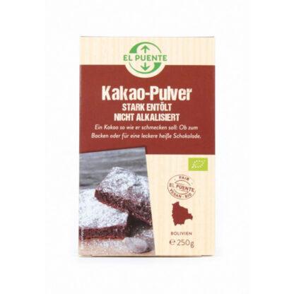 biologische sterk ontoliede fair trade cacao